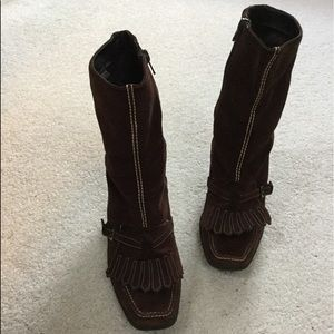 Aerosolses brown suede boots